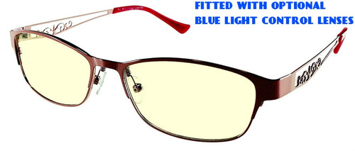 f18877444d4 ... Rosemount - Dark Red Prescription Glasses with Optional Blue Light  Control Lenses Fitted ...