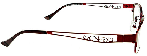 2c320077c3d ... Optional Blue Light Control Lenses Fitted  Rosemount - Red Prescription  Glasses - Side View ...
