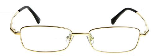 203c46d2f62d Dallas Gold Prescription Glasses Blue Light Blocking Lenses ...