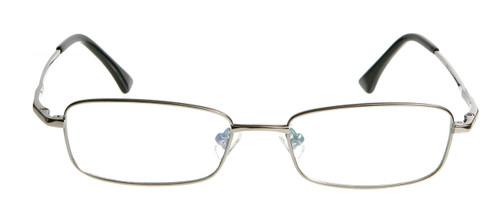 396cd6f31d37 ... Dallas: Gunmetal Titanium Prescription Glasses - Front View ...