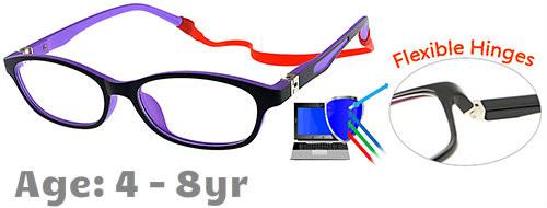 4c5f087fc48 Flexible Kids Glasses - Black Purple Children Prescription Glasses ...