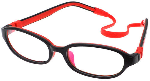 f2ec000c694 Kids Glasses C6001 Black Red together with Strap and Ear Hooks ...