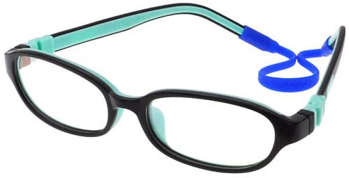 38ec6e7746f10 (1) Kids Glasses C6001 Black Aqua together with Strap and Ear Hooks ...