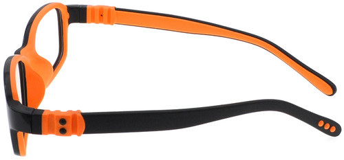 9c233962b19 ... Kids Glasses with Bendable Hinges G7007 Black Orange - Side View ...