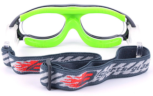 aae7320bad ... Prescription Sports Goggles BL028 Black Green Back View ...