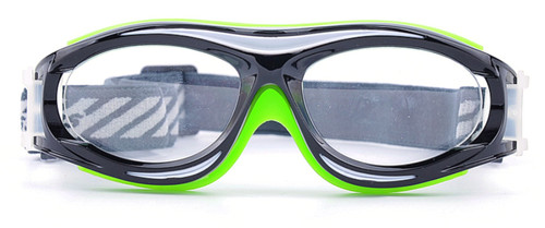 d6ba830eb8 ... Prescription Sports Goggles BL028 Black Green Front View ...
