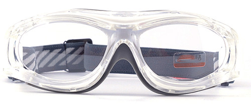 98b5b6ca7a ... Prescription Sports Goggles BL028 Clear Grey Front View ...
