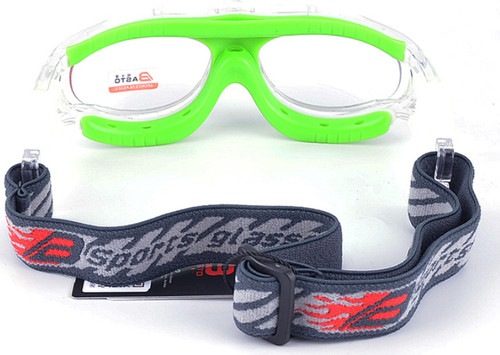 f0727d3c17 ... Prescription Sports Goggles BL028 Clear Green Back View ...