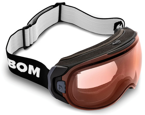 Abom One Resolution Red Snow Goggles with patented KLAIR one-touch defogging technology