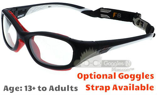 873367fa0ea Rec Specs F8 Slam Patriot XL Prescription Sports Glasses Matte Navy White  55 Eye Size
