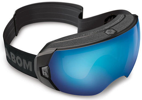 (1) Abom Heet Sky Blue Mirror Snow Goggles with patented one-touch defogging technology | VLT - 30%