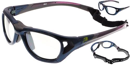 8b6e8b6565 ... (1) Rec Specs F8 Sport Shift Sports Glasses Shiny Navy Blue in 52 Eye