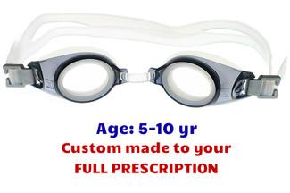Sports Visions Prescription Optical Swimming Goggles Adult Black Minus /& Plus Powers UV Tint