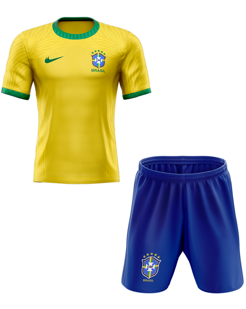 2020 Brazil  Home Kids Kit with free name and number