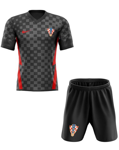 2020 Croatia Away Kids Kit with free name and number