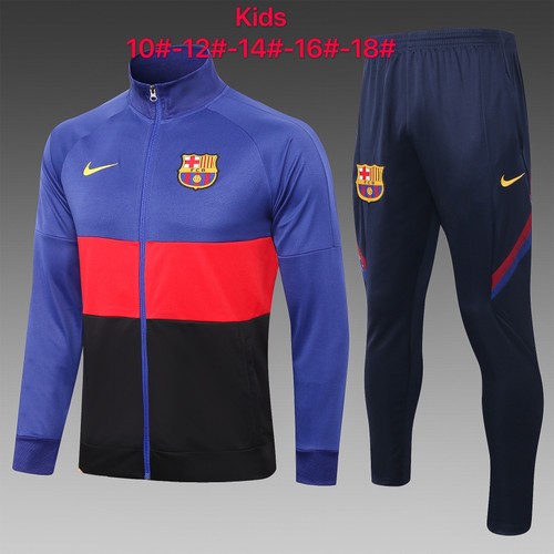 Barcelona Kids Zip Jacket and trouser tracksuit set 3 stripe