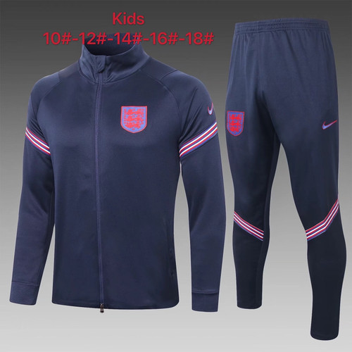 England Kids Zip Jacket and trouser tracksuit set Navy