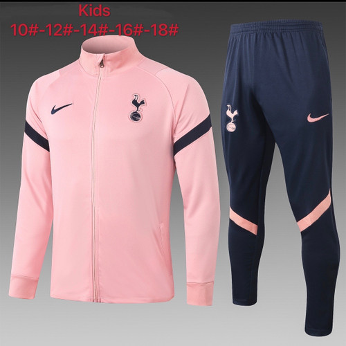 Spurs Kids Zip Jacket and trouser tracksuit set Pink