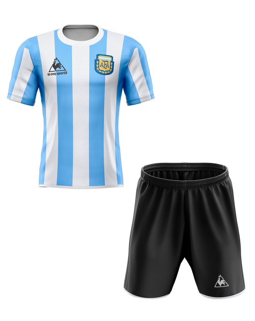 1986 Argentina Tribute Home Kids Kit with free name and number
