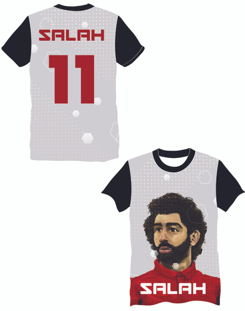 LIMITED EDITION Salah 11 Grey Supporters football shirt