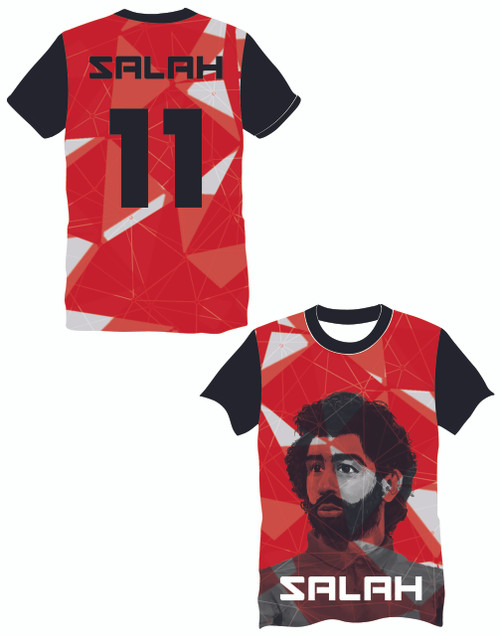 LIMITED EDITION Salah 11 Red Shapes Supporters football shirt