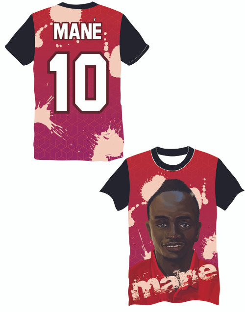 LIMITED EDITION Mané 10 Red Supporters football shirt
