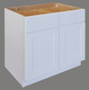 Shaker Hill Double Door Base Cabinet with Two Drawer - CabinetNow.com