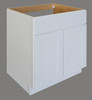 Shaker Hill Sink Base With False Drawer Front - CabinetNow.com