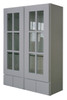 Grayson Series Glass Door Wall Cabinet with Pocket Drawers