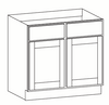 Grayson Series Double Door Base Cabinet with Two Drawer - CabinetNow.com
