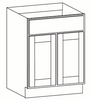 Grayson Double Door Base Cabinet with One Drawer - CabinetNow.com