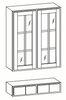 Ellisen Glass Door Wall Cabinet with Pocket Drawers