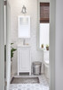 """17-5/16"""" White Vanity from the Cade Contempo Collection (VAN104-18-T)"""