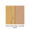 Paint Grade Alder with MDF Panel