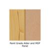 Paint Grade Alder with MDF Panel