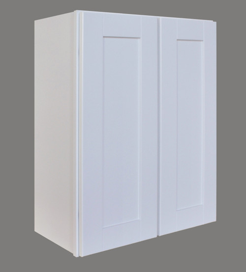Shaker Hill Double Door Wall Cabinet with Soft Close Hinges