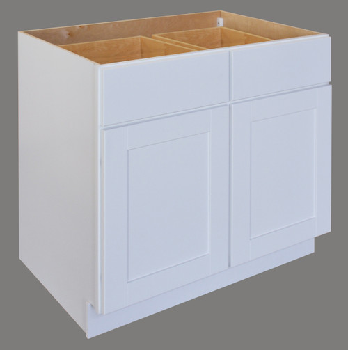 Shaker Hill Double Door Base Cabinet with Two Drawer