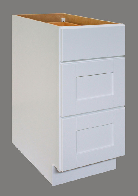 Shaker Hill Series 3 Drawer Base Cabinet - CabinetNow.com