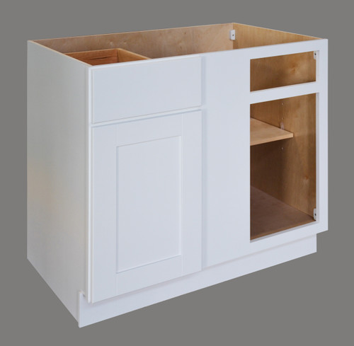 Shaker Hill Blind Corner with Drawer - CabinetNow.com