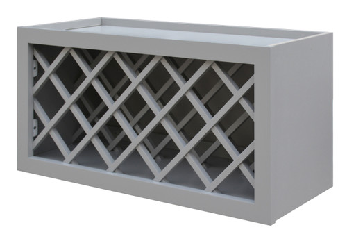Grayson Series Wine Bottle Rack Bridge Wall Cabinet - CabinetNow.com