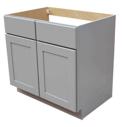 Grayson Series Sink Base With Two False Drawer Fronts - CabinetNow.com