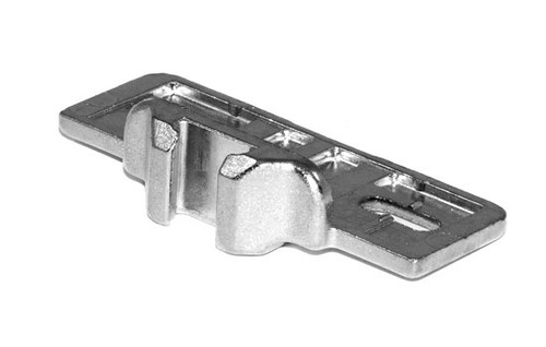 """1-1/8"""" Overlay Screw-on Edge Mount Baseplate for Compact Hinges"""