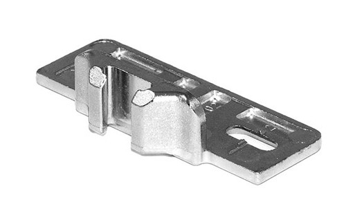 "1-1/4"" Overlay Screw-on Edge Mount Baseplate for Compact Hinges"