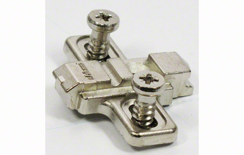 0mm Mounted Euro Screw Wing Baseplate for Cliptop Hinges