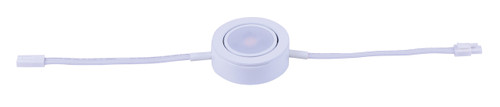 "2-3/4"" wide CounterMax MX-LD-AC LED Single Puck 3000K with Connecting Cord (53832) in White"