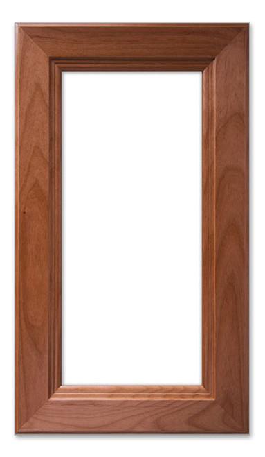 Mitered 7 Inset Glass Cabinet Door