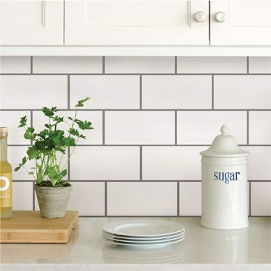 How to Install a Peel-and-Stick Backsplash