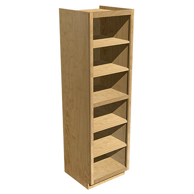Tall Cabinet 2 Equal Opening Alder
