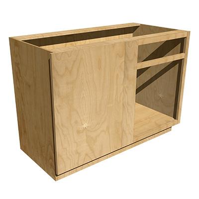 Left Blind Base Cabinet With Drawer Red Oak