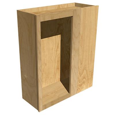 Right Blind Upper Corner Cabinet Maple